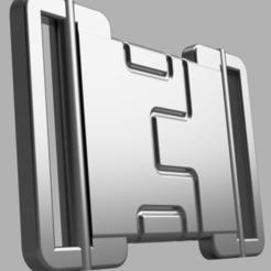 Snag_2467948.png Télécharger fichier STL Boucle de ceinture Captain America TFA • Objet à imprimer en 3D, superherodiy