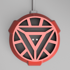 Snag_10cb136a.png Download STL file Iron Man Google Home Mini / Nest Mini Cover • 3D printable design, superherodiy