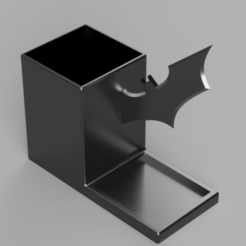 Snag_b88afd1.png Download STL file The Dark Knight Batarang Pencil Holder Desk Organizer • 3D printing object, superherodiy