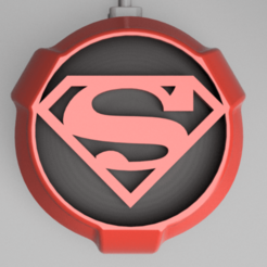 Snag_10d3d9e0.png Download STL file Superman Google Home Mini / Nest Mini Cover • 3D printing design, superherodiy