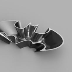 1989_Batman_Logo_Candy_Tray_B_v2.jpg Download STL file Batman 1989 Logo Candy Dish Bowl • 3D printer design, superherodiy