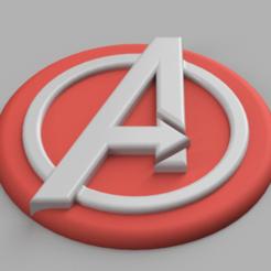 Snag_271bd35.png Télécharger fichier STL Logo Captain America Avengers Emblème d'épaule • Plan pour imprimante 3D, superherodiy