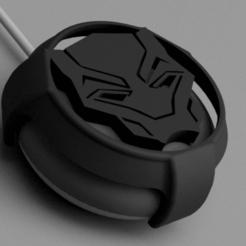 Snag_10d0a273.png Download STL file Black Panther Mask Google Home / Nest Mini Cover • Template to 3D print, superherodiy