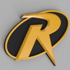 2020-10-06_16-32-54-0000.png Download STL file Robin Logo Badge Emblem • Model to 3D print, superherodiy