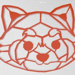 pandaroux.png Télécharger fichier STL Panda roux 2d • Plan pour impression 3D, johnnydip