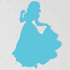 blanche.png Download STL file Snow White 2D • 3D printable object, johnnydip
