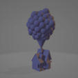 Download STL file House of La-haut (UP) with the balloons • 3D printing model, johnnydip