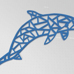dauphin1.png Download STL file Dolphin 2d • 3D print model, johnnydip