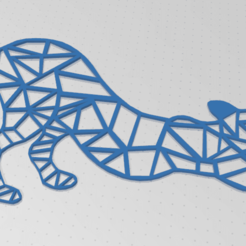 chataccroupi.png Download STL file 2d crouching cat • 3D printable design, johnnydip