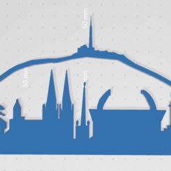 Download STL file Skyline of Clermont-Fd • 3D printable model, johnnydip