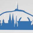Download STL file Skyline of Clermont-Fd • 3D printable model, johnnydip