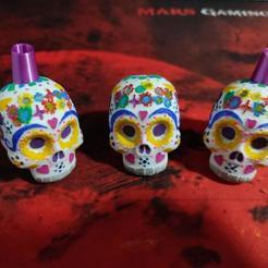 Télécharger modèle 3D HOOKAH/CACHIMBA/SHISHA Crâne mexicain, Maxi182