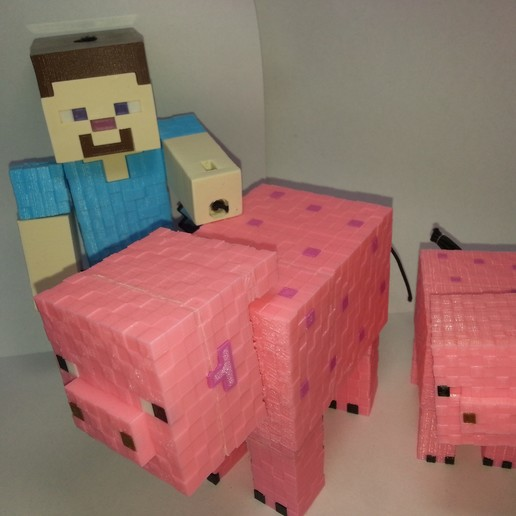 Download 3D printer designs Minecraft Pig, Coufikus