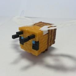 20200314_090932.jpg Download STL file Minecraft Bee • 3D printer model, Coufikus