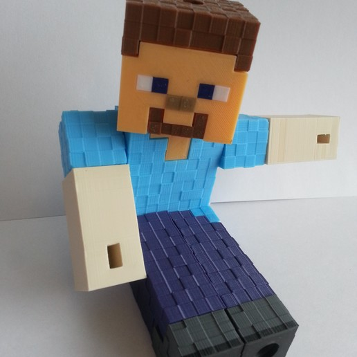 Download Stl File Minecraft Steve 3d Printing Template Cults