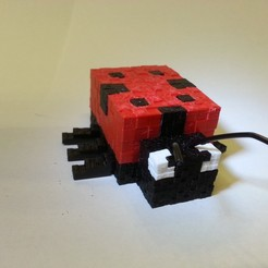 20201119_183301.jpg Download STL file Minecraft Ladybird Ladybug • 3D printable design, Coufikus