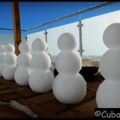 Snowmen.jpg Download free STL file Snowman Maker Mould (saving material) • 3D printing template, stefan80h
