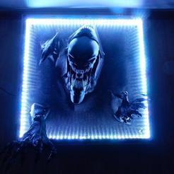 Imprimir en 3D gratis Alien Queen - se abre paso - fácil de imprimir - todos los STLs en línea!, stefan80h
