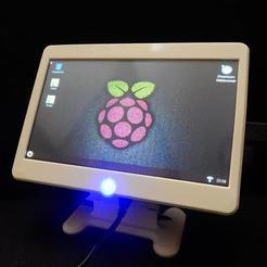 """DSCN3699.jpg Télécharger fichier STL gratuit Raspberry Pi Octoprint 7"""" Touch Terminal Case PC de bureau avec ventilateur de refroidissement • Design à imprimer en 3D, stefan80h"""