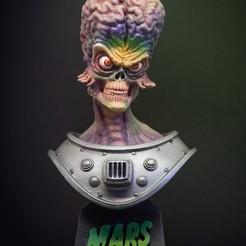 Descargar modelos 3D Marte Ataques busto, Threepwoody