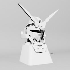 03.jpg Download STL file Gundam Unicorn Keycap - Cherry MX • Template to 3D print, xelu3banh