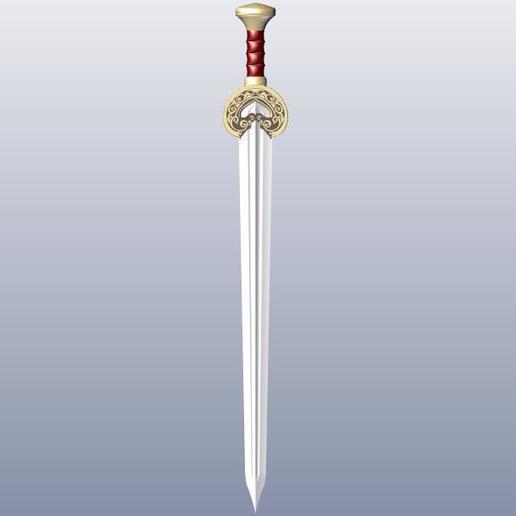 Download 3D printing models Herugrim Sword, 3Agraphic