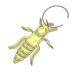 Download free 3D printing templates Queen Bee jewelry earring, necklace, Aether