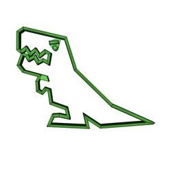 C1A33A6B-B74B-4140-A7EF-8FD9051623FF.jpeg Télécharger fichier STL gratuit Dinosaure coupeur de cookie T rex, low poly • Design pour imprimante 3D, Aether