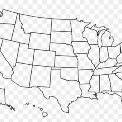 America all 50 States.png Télécharger fichier STL L'Amérique des 50 États STL dépose des dossiers sur les primes à l'extrême • Design pour impression 3D, xxSUPERMANxx