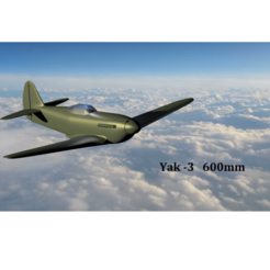 display pic.png Download STL file Yakovlev Yak - 3 600mm • Template to 3D print, 3D_Aeroworks