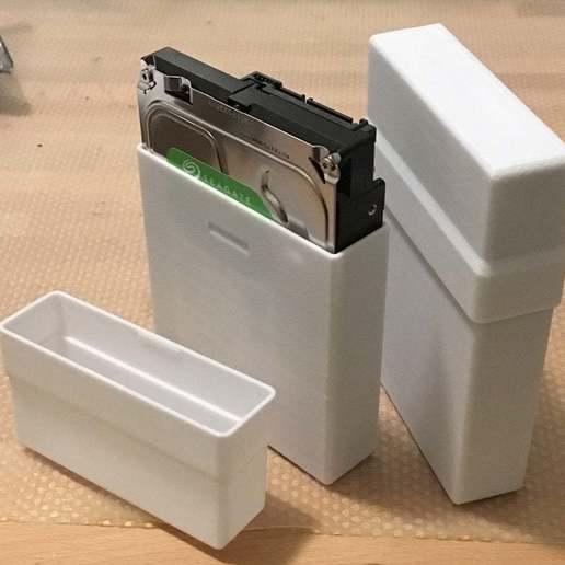 """Télécharger fichier STL gratuit Boîtier de stockage pour disque dur de 3,5"""" et 2,5 • Design à imprimer en 3D, CartesianCreationsAU"""