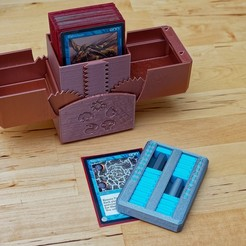Download 3D printer templates Life Counter (MTG etc), CartesianCreationsAU
