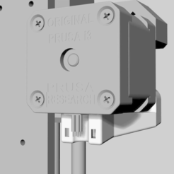 Screen_Shot_2018-08-15_at_8.30.47_pm.png Download free STL file Prusa X-axis motor cable strain relief • 3D print design, CartesianCreationsAU