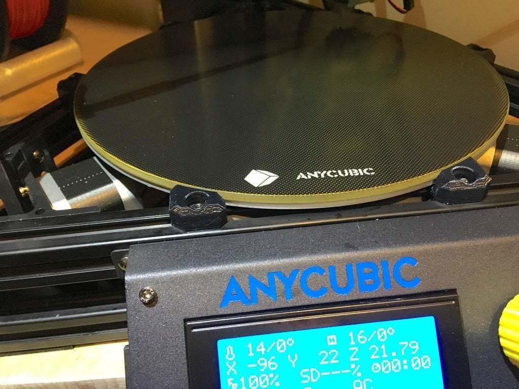 IMG_5662.JPG Download free STL file Anycubic Kossel Linear Plus Ultrabase heatbed clips • 3D printer model, CartesianCreationsAU