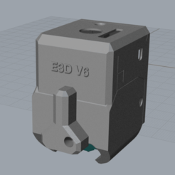 Descargar archivo 3D gratis E3D hotend para FlashForge Adventurer 3 / Monoprice Voxel, CartesianCreationsAU