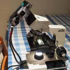 Impresiones 3D gratis Adaptador de microscopio de M4/3s a 23,2 mm., CartesianCreationsAU