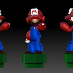 MEGAMARIO COLORZ.jpg Download STL file Megaman-Mario • 3D printable model, javrk25
