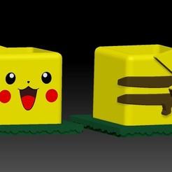 PIKACHU1.jpg Télécharger fichier STL Pikachu Pokemaceta • Objet à imprimer en 3D, javrk25