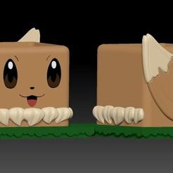 EEVEE1.jpg Télécharger fichier STL Eevee Pokemaceta • Design pour impression 3D, javrk25