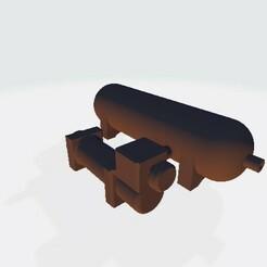 Luftkompressor-inkl tank.jpg Download STL file Scalemonkey On Board air Compressor and Tank • 3D printer design, Scalemonkey