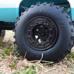 20180724_211035.jpg Download STL file Scalemonkey Wheel Style 12 Bolt 35mm and 42mm Wide Beadlock RC Crawler 12mm Hex • 3D printable model, Scalemonkey