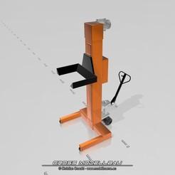 HebebühneUY2008.jpg Download STL file 1:18 LKW Hebebühne Mobil • 3D printable template, CrossModellbau