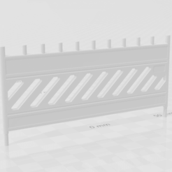 Unbenannt.png Download STL file 1:18 Schrankenzaun UQ900 • 3D printer design, CrossModellbau