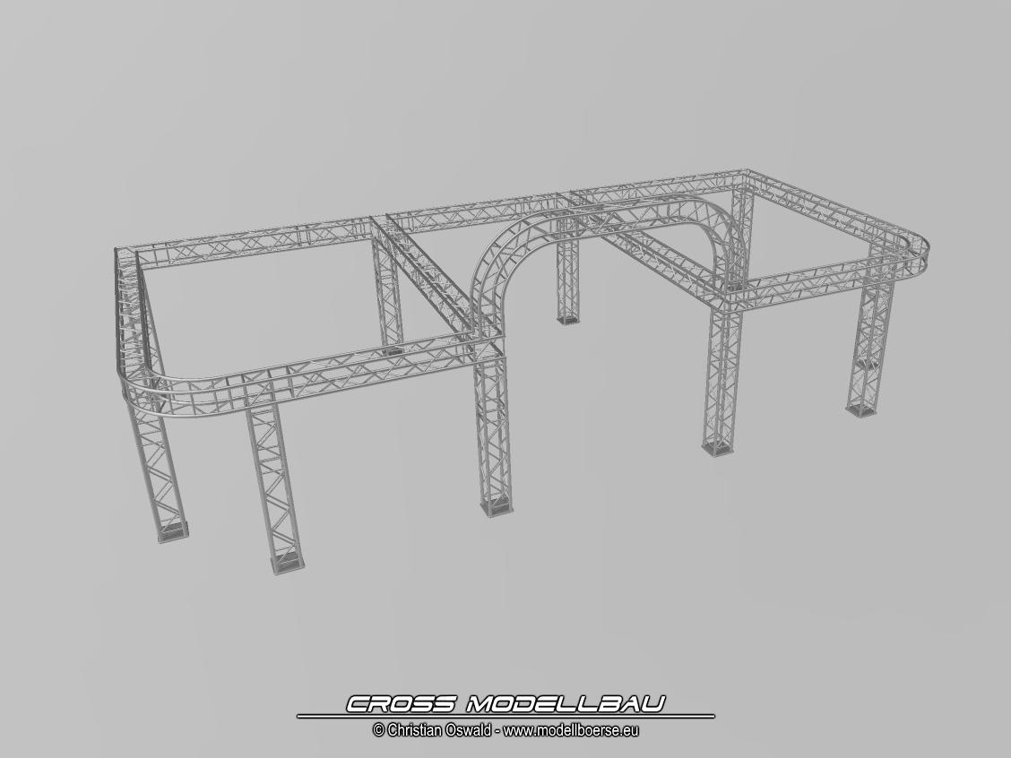 Truss 4 Punkt Traverse Messestand ZSB1000.png Download STL file 1:18 Truss 4 Punkt Traverse Messestand ZSB1000 • Template to 3D print, CrossModellbau