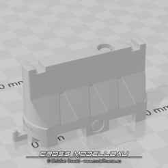 Descargar modelos 3D para imprimir 1:18 Diorama Fahrbahnteiler, CrossModellbau