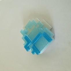 20200616_091256.jpg Download free STL file Minecraft Diamond • 3D printable template, Akrubek