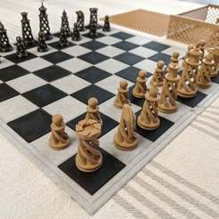 IMG_20200610_191426.jpg Download free STL file Thin Sectioned Chess Board with Box • 3D print model, RobotDoctor