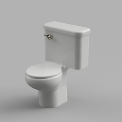 Download free 3D model Dollhouse toilet 1/24, ericcherry