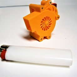 Download free STL file Miniature human powered blower fan • 3D print design, ericcherry