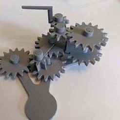 Download free 3D printer designs Cardan Gear with Dwell Mechanism, ericcherry